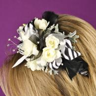 Black & White Floral Head Band