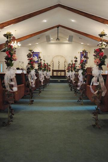 Wedding Ceremony Pew Flowers